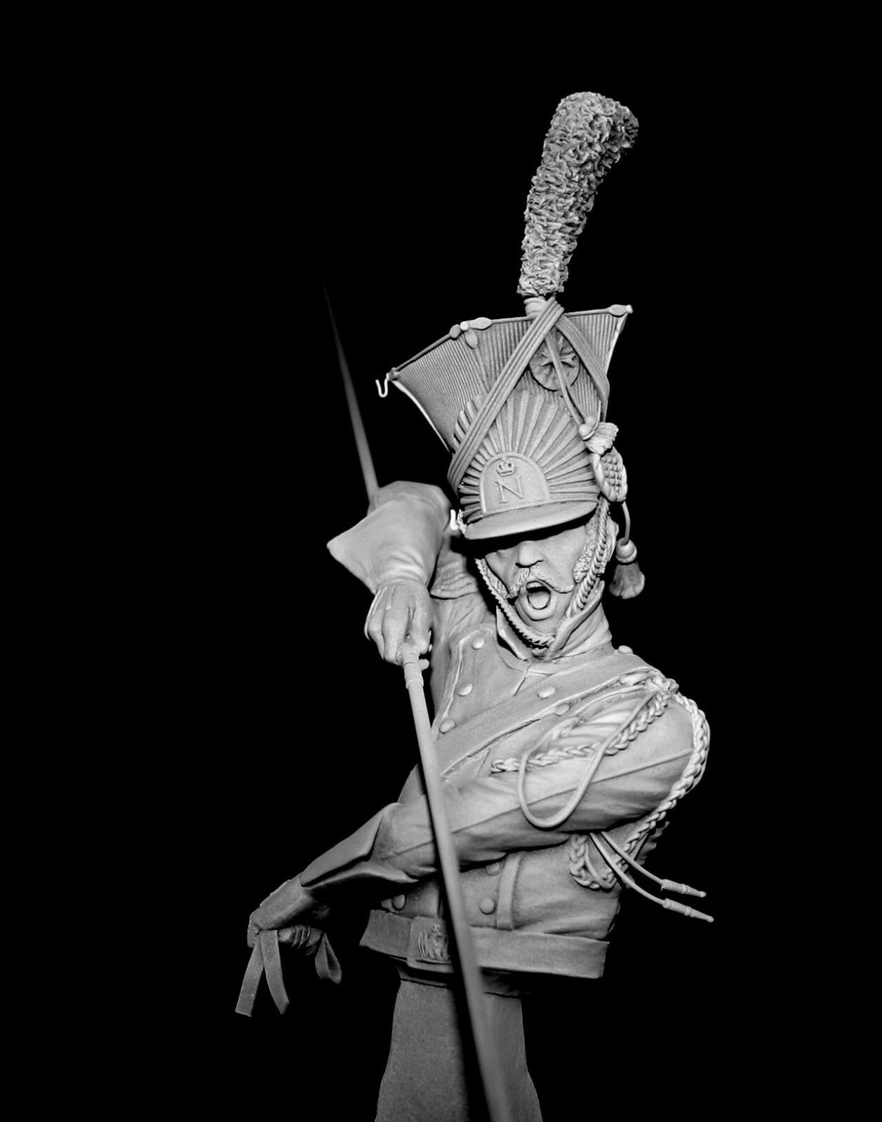 CGS French Imperial Polish Guard Lancer 1815 1 9th Bust Unpainted kit CARL REID