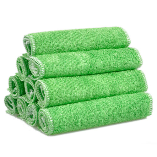 1 Pc Highly Bamboo Fiber Kitchen Hand Towel IN Stock Dish Cloth Rags Set 9KQ
