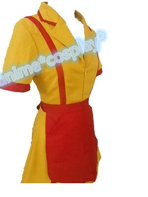 TV Show Two 2 Broke Girls Max and Caroline Diner Waitress Costume Halloween