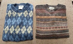 2 St Johns Bay Sweaters Mens Lt Made In Usa Ebay