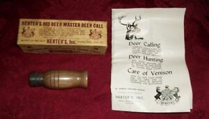 Herter-039-s-World-Famous-903-Deer-Master-Deer-Call-Patent-Pending-Box-amp-Manual