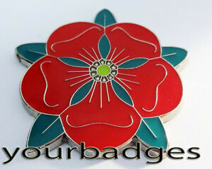 CHROME-email-Lancashire-Rose-Voiture-BADGE-rose-rouge