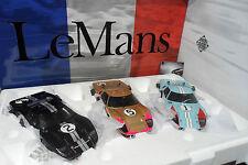SET 3 FORD GT40 MK II LE MANS 1966 WINNER SECOND THIRD 1/18 EXOTO 18SC2 TRES RAR