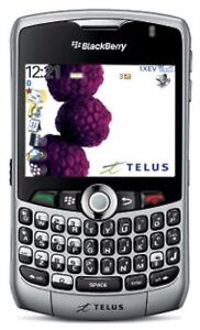 blackberry curve 8330 telus smart wireless cell phone silver gps rh ebay com BlackBerry Curve 9300 AT&T BlackBerry Phones