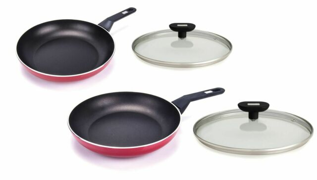 20cm 24cm and 28cm Frying Pans Berndes Red Edition 3 Piece Frypan Set