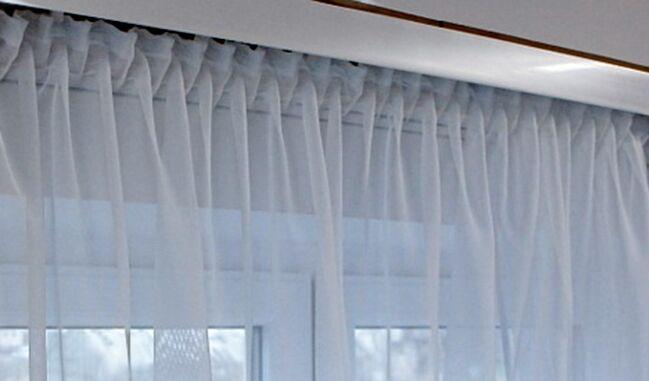 Nouveau   fini rideau   store  rideau  voile  Blanc  kr uselband  bleibandabschlu  aeee63