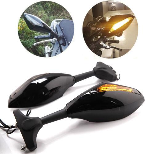 MOTORCYCLE LED TURN SIGNAL SIDE MIRRORS FOR KAWASAKI NINJA 6R 9R 650R 250R 636