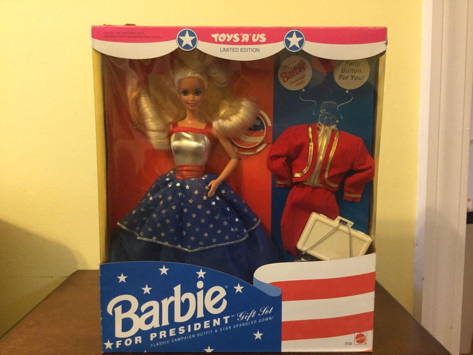 Oferta ganadora fue ,999 ahora para la reventa nuevo Barbie para presidente sin abrir