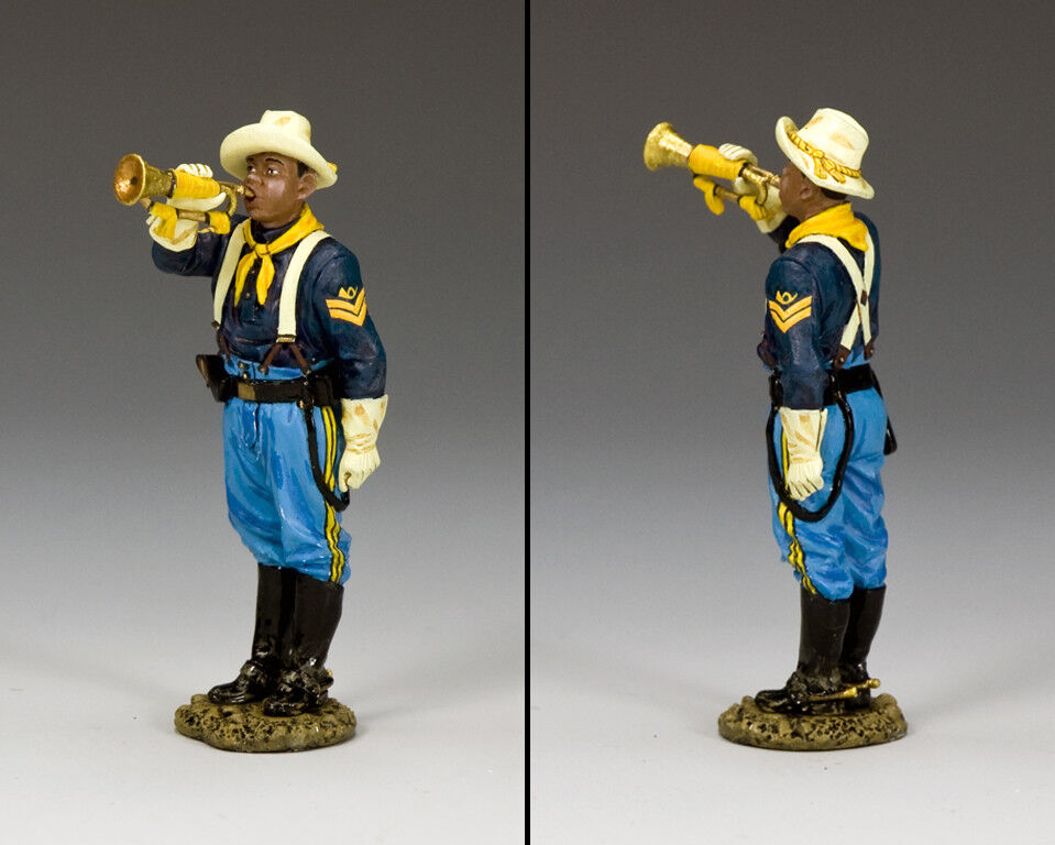 KING & COUNTRY THE REAL WEST TRW117 BUFFALO SOLDIER BUGLER MIB