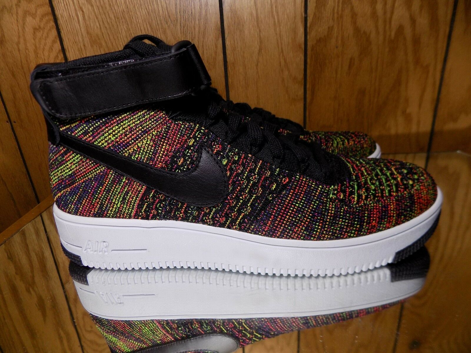 Mens Nike AIR FORCE 1 ULTRA FLYKNIT MID Shoes -Reg 175 -817420 002 -Sz 9.5 -New