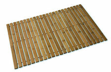 BC NON SLIP BAMBOO FOLDING 60 X 40CM SLATTED DUCK BOARD BATH MAT SHOWER BATHROOM
