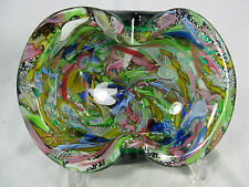 "Stunning Dino Martens ""Tutti Frutti""  ""rest of the day"" Murano glass bowl Schale"