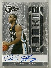 Xavier Henry 2010-11 Totally Certified Jersey RC Auto /599 - GRIZZLIES / LAKERS