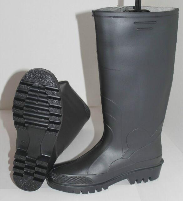 Gummistiefel gummi Arbeit - Regenstiefel Schwarz Grün Gr 38 39 40 41 42 43 44 45