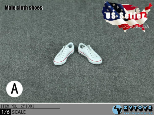 """1//6 Men Shoes Converse Lace Up Sneakers For 12/"""" Hot Toys Phicen Male Figure"""