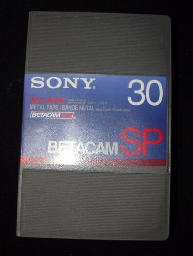 1 New Sony BCT-30MA Betacam SP Metal Tape 222m/728ft 30min