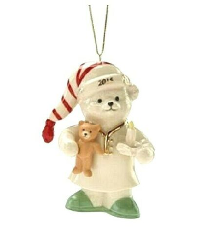 Lenox 2015 Teddy/'s Holiday Slumber Ornament Limited Edition NEW IN BOX