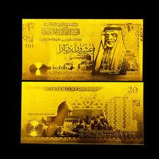 JORDAN BANKNOTE 20 DINARS 2002-2009 REPLICA GOLD 24K