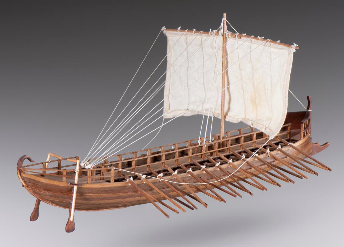 Dusek Greek Bireme 1 72 Scale D001 Model Boat Kit