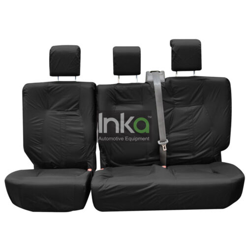 Ford Focus Inka Fully Tailored Waterproof  Rear Seat Covers Black