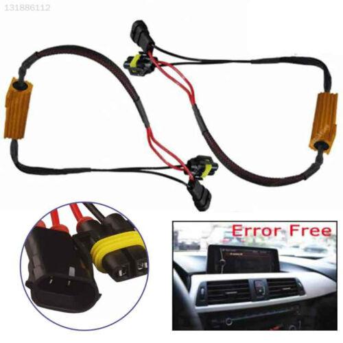 for H8 H11 Load Resister Decoder Cable Error Free Fog Light Warning Canceller