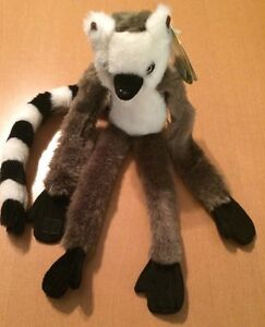 Wildlife Artists Wild Hangers Ring Tailed Lemur Plush Ebay