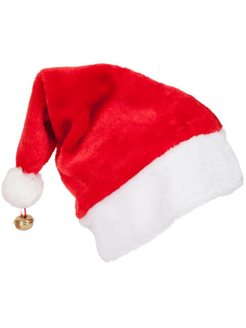 e614cac91e Adult Deluxe Unisex Santa Hat With Bell Christmas Xmas Fancy Dress  Accessory New