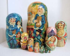 One Of A Kind Peint À La Main Poupées Russes Imbriquées   One Of A Kind Peint À La Main Poupées Russes Imbriquées