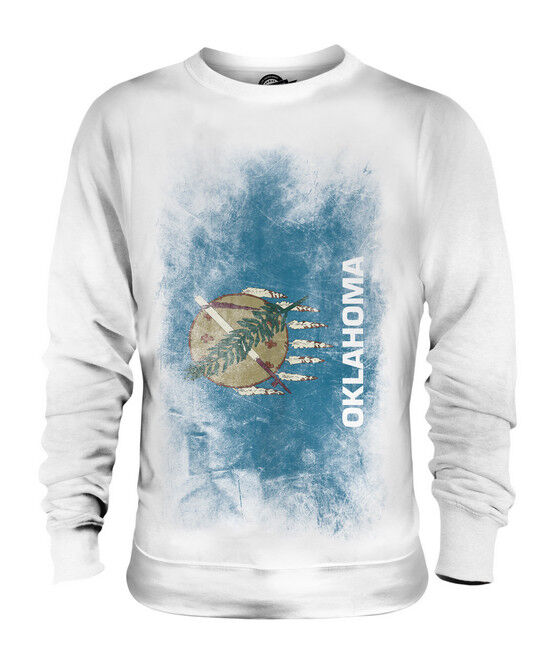 OKLAHOMA STATE FADED FLAG UNISEX SWEATER TOP OKLAHOMAN SHIRT JERSEY GIFT