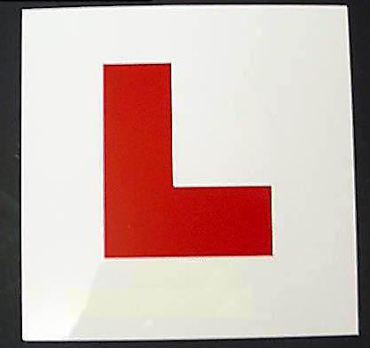 LEARNER LEGAL L PLATE MOTORCYCLE SCOOTER HARD PLASTIC
