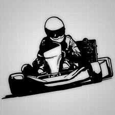 "Go Kart Trailer Decal, Go Kart Racing Sticker - 24"" x 18"""