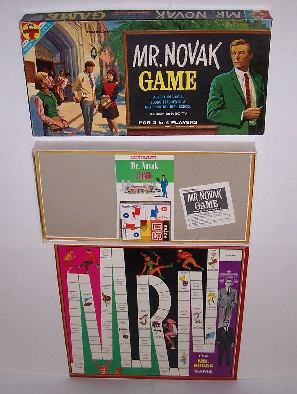 vendita di fama mondiale online Mr Novak Novak Novak tavola gioco NBC TV Adventures Teacher High School 1963  economico e di alta qualità