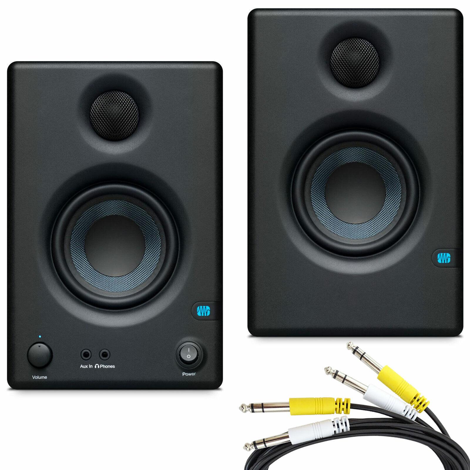 Presonus Eris 3.5 Aktive Multimedia Monitor-Boxen + 2-fach Klinke Anschlusskabel