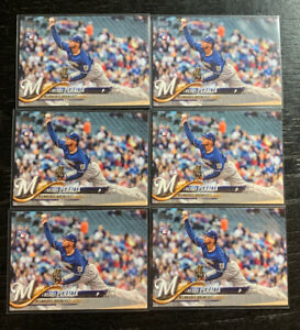 Freddy-Peralta-RC-Lot-6-2018-Topps-US39-Milwaukee-Brewers