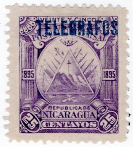 I-B-Nicaragua-Telegraphs-25c-Violet-1895