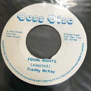 Freddie-McKay-Equal-Rights-7-034-Reggae-Jamaica-Boss-Disc-Dub-Roots-UNPLAYED