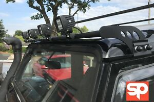 Roof mounted light bar 4 mount lm25 for land rover defender 90 110 image is loading roof mounted light bar 4 mount lm25 for aloadofball Choice Image