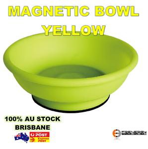 "2x Hi-Vis 6/"" Magnetic Bowl TrayYELLOWParts ToolsScrews Nuts Bolts Nails"