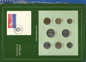Coin-Sets-of-All-Nations-France-French-1986-1989-UNC-2-Francs-1989-LOW-83000