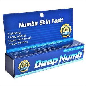 10g DEEP NUMB Numbing Cream Anesthetic Tattoo Piercing Waxing Laser ...