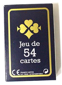 Jeu-54-Cartes-Brigde-Poker-Canasta-8-5-x-5-5cm-Bleu-Fabrique-en-France