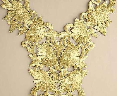 Iron On Trim for Neckline from India Easy DIY Extra Large Neckline Gold