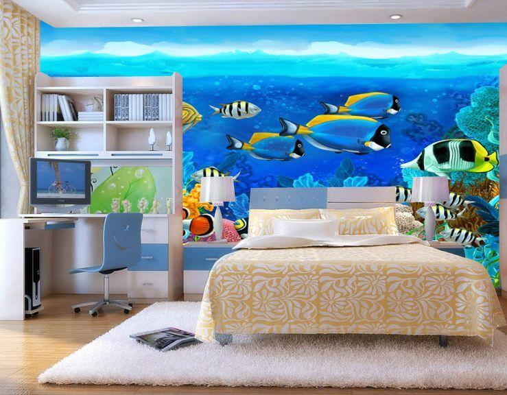 3D All die schönen Fisch Fisch Fisch Fototapeten Wandbild Fototapete BildTapete Familie DE 60c388