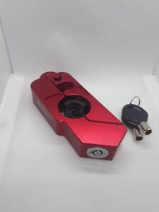 Garrys-Handlebar-Throttle-Grip-lock-Motorbike-Motorcycle-Security-Lock-color-RED