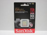 Sandisk 128g Extreme 4k Hc Sdxc Sd Card For Panasonic V180 V160 V130 V110 C17