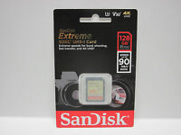 Sandisk 128g Extreme 4k Shot Sdxc Sd Card For Sony Rx10 Iii Rx10m Ii Cyber C17