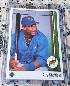 GARY SHEFFIELD 1989 Upper Deck #1 Draft Pick Star Rookie Card RC Champs 509 HRs