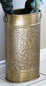 Solid Brass Umbrella Stand Oval