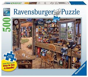 Ravensburger Dad'S Shed - 500 Pieces Large Format Puzzle, New, Free Shipping