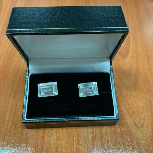 Silver color Square Cuff's Button Cufflinks with s